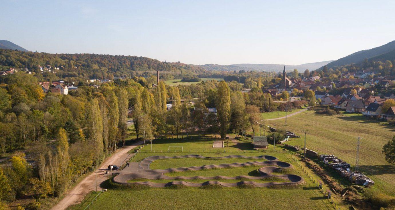 vue drone pumptrack muhlbach